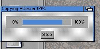 Amiga. Może nie najstarsza, ale od systemu 2.04 paski wyglądaly tak jak ten.